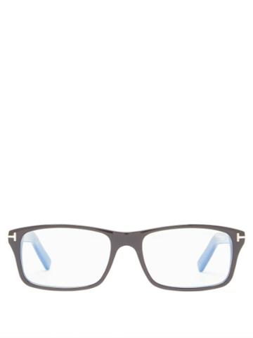 Matchesfashion.com Tom Ford Eyewear - Square-frame Acetate Glasses - Mens - Black