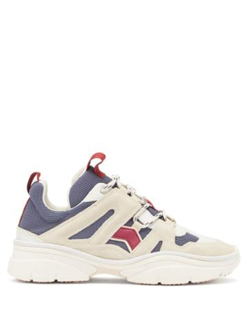 Matchesfashion.com Isabel Marant - Kindsay Suede And Mesh Trainers - Womens - White Multi