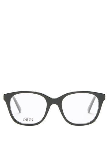 Matchesfashion.com Dior - 30montaigneminio Round Acetate Glasses - Womens - Black