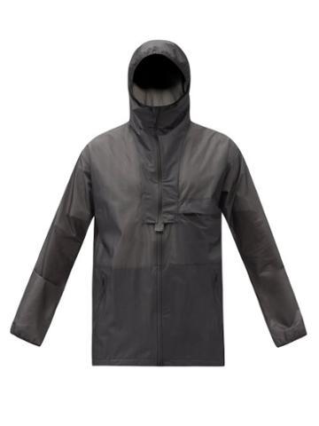 Matchesfashion.com Y-3 - Panelled Shell Hooded Jacket - Mens - Black