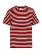 Matchesfashion.com Holiday Boileau - Striped Cotton Blend T Shirt - Mens - Multi