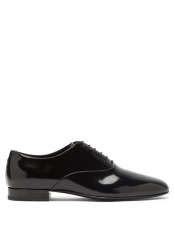 Matchesfashion.com Saint Laurent - Smoking Patent-leather Oxford Shoes - Womens - Black