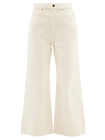 Khaite - Ella High-rise Wide-leg Cropped Jeans - Womens - Ivory