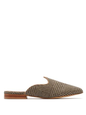 Matchesfashion.com Giuliva Heritage Collection - Venetian Prince Of Wales Check Mules - Womens - Brown Multi