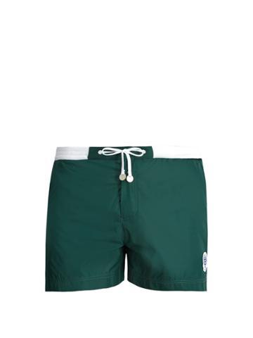 Robinson Les Bains Wimbledon Contrast-panel Swim Shorts