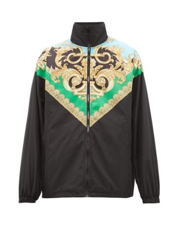 Matchesfashion.com Versace - Baroque Print Lightweight Jacket - Mens - Black Green