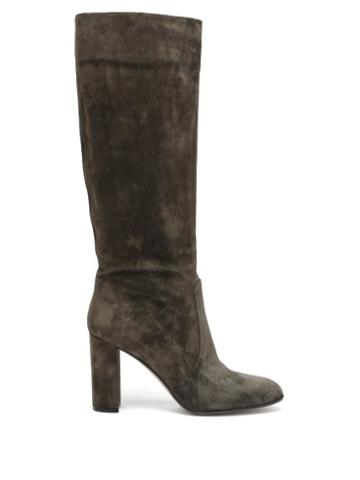 Matchesfashion.com Gianvito Rossi - Glen 85 Suede Knee-high Boots - Womens - Dark Green