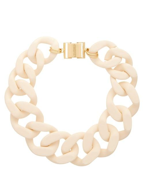 Matchesfashion.com Zimmermann - Curb-link Resin Necklace - Womens - Cream
