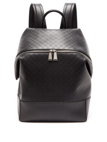 Matchesfashion.com Bottega Veneta - Intrecciato-debossed Leather Backpack - Mens - Black
