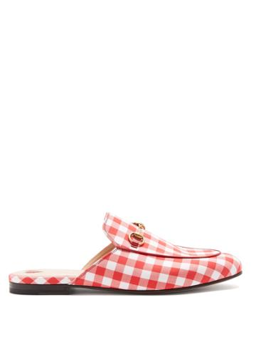 Gucci Princetown Gingham Loafers