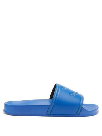 Paul Smith - Logo-debossed Rubber Slides - Mens - Blue
