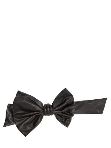 Maison Margiela Bow-embellished Leather Belt