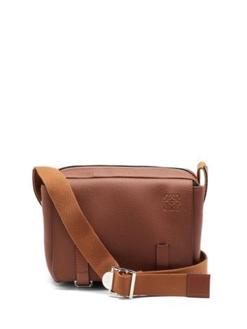 Matchesfashion.com Loewe - Anagram-logo Grained-leather Messenger Bag - Mens - Tan