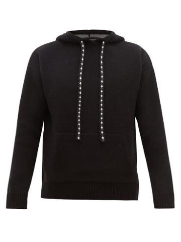 Matchesfashion.com Alanui - Paisley Jacquard Wool Blend Hooded Sweater - Mens - Black