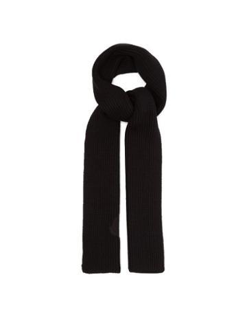 Matchesfashion.com 2 Moncler 1952 - Logo Appliqu Wool Scarf - Mens - Black