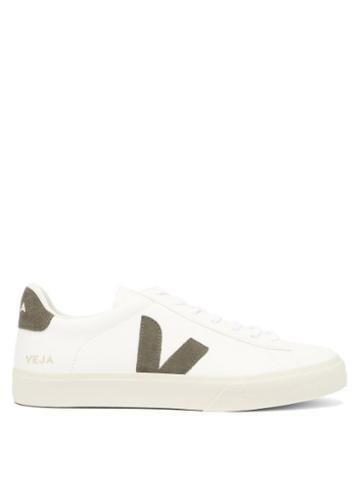 Matchesfashion.com Veja - Campo V-appliqu Grained-leather Trainers - Mens - White