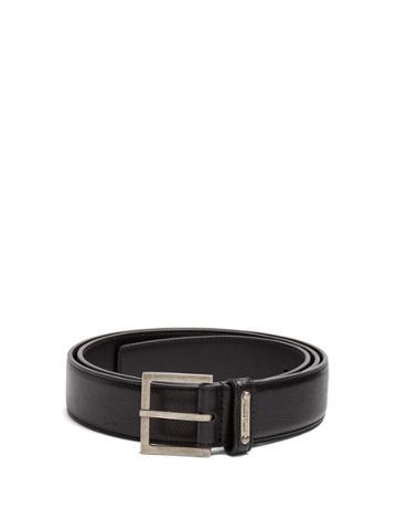 Saint Laurent Square-buckle Leather Belt