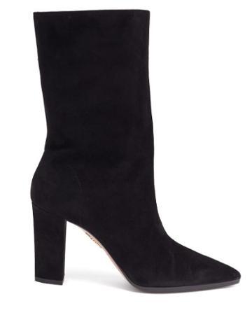Matchesfashion.com Aquazzura - Skyler Suede Boots - Womens - Black