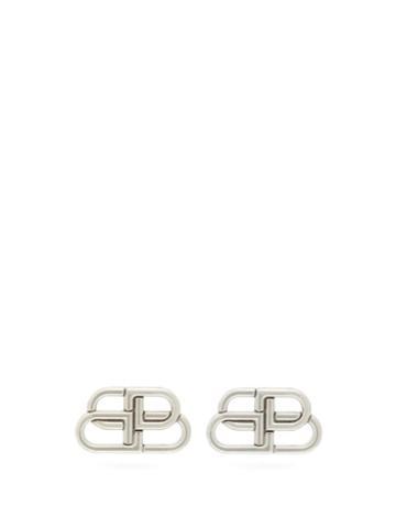 Matchesfashion.com Balenciaga - Bb Stud Earrings - Womens - Silver