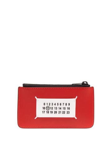 Matchesfashion.com Maison Margiela - Numbers Logo Leather Cardholder - Mens - Black