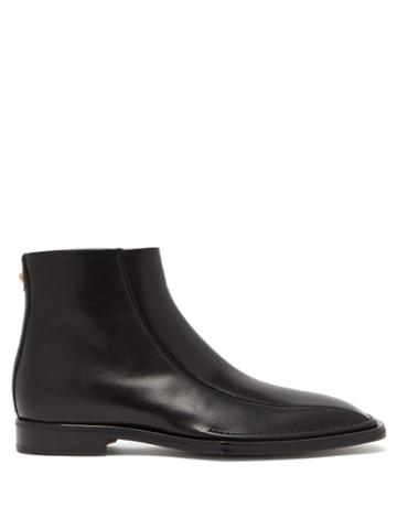 Matchesfashion.com Versace - Medusa Embellished Leather Boots - Mens - Black