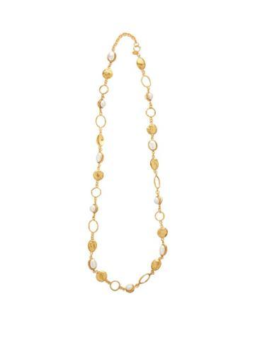 Matchesfashion.com Sylvia Toledano - Pearl Embellished Long Necklace - Womens - Gold