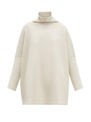 Matchesfashion.com Connolly - Roll Neck Cashmere Sweater - Womens - Cream