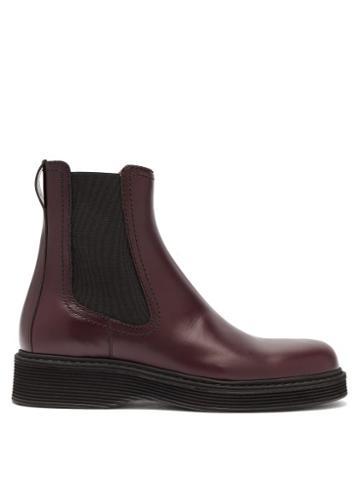 Matchesfashion.com Marni - Leather Chelsea Boots - Mens - Burgundy