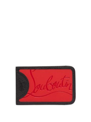 Matchesfashion.com Christian Louboutin - Loubislide Rubber Inlay Leather Cardholder - Mens - Red