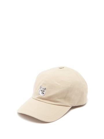 Matchesfashion.com Maison Kitsun - Fox Logo Appliqu Cotton Blend Cap - Mens - Beige