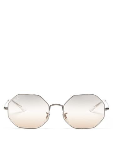 Ray-ban - Octagon 1972 Metal Sunglasses - Womens - Silver Multi