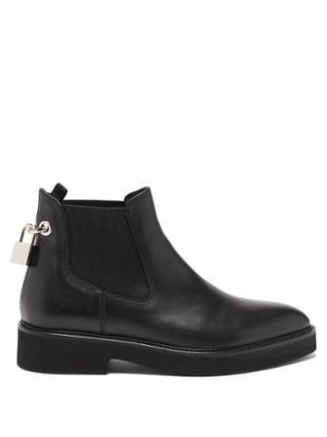 Matchesfashion.com Christopher Kane - Padlock Leather Chelsea Boots - Womens - Black