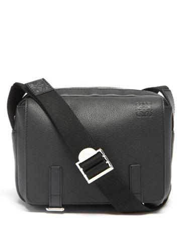 Loewe - Military Xs Leather Messenger Bag - Mens - Black