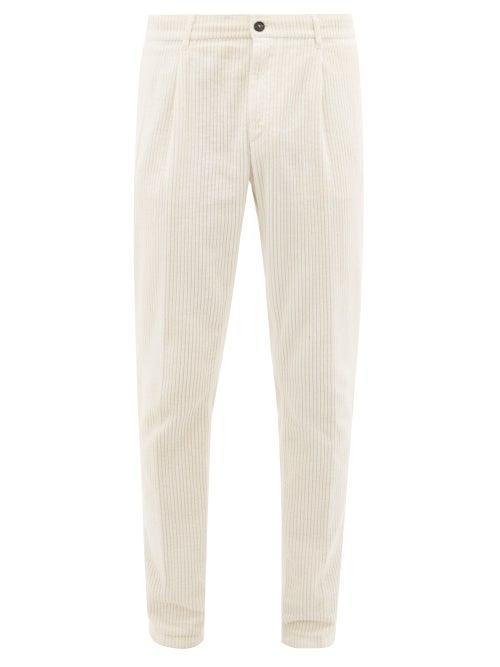Matchesfashion.com Altea - Verona Cotton Corduroy Trousers - Mens - Cream