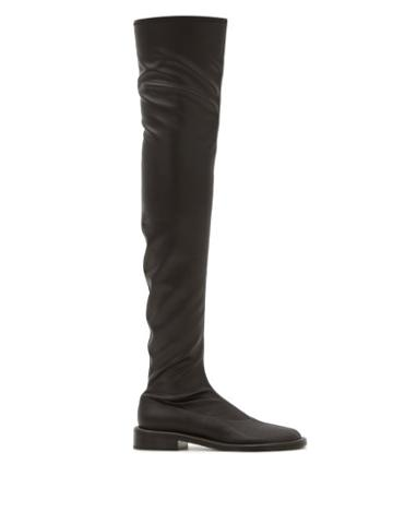 Matchesfashion.com Proenza Schouler - Pipe Faux-leather Over-the-knee Boots - Womens - Black
