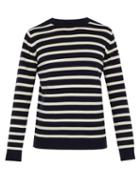 Matchesfashion.com Holiday Boileau - Striped Knitted Wool Sweater - Mens - Navy