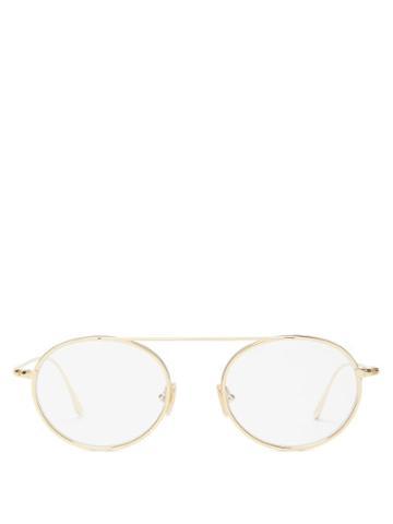 Matchesfashion.com Tom Ford Eyewear - Round Metal Glasses - Mens - Gold