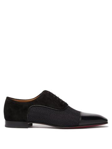 Christian Louboutin - Greggo Leather Oxford Shoes - Mens - Black