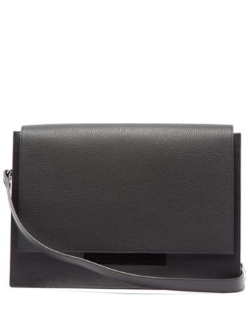 Matchesfashion.com Nosakhari - Standout Leather Messenger Bag - Mens - Black
