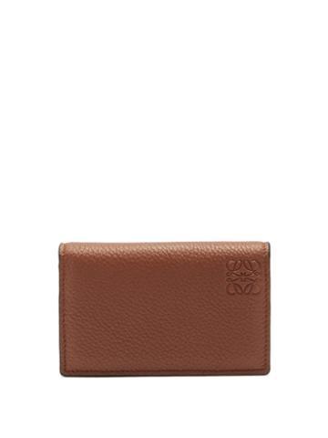Matchesfashion.com Loewe - Anagram-debossed Leather Cardholder - Mens - Brown