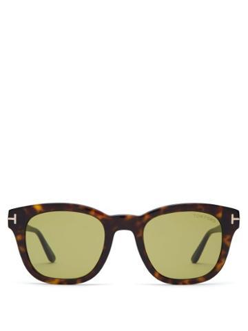 Matchesfashion.com Tom Ford Eyewear - Tortoiseshell Round Frame Sunglasses - Mens - Tortoiseshell