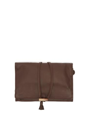 Matchesfashion.com Lorenzi Milano - Leather Jewellery Wrap Case - Dark Brown