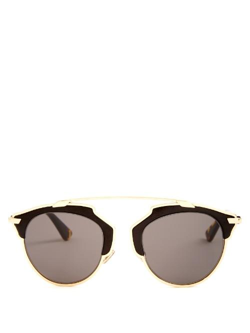 Dior So Real Leather Sunglasses
