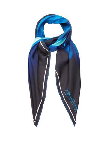 Mary Mccartney Dancer In Blue-print Scarf