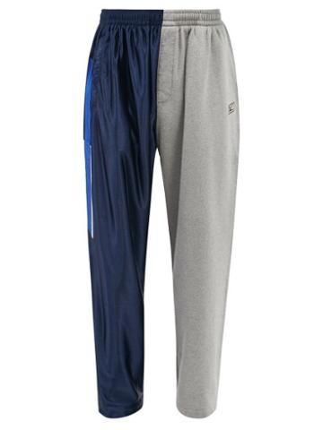 Balenciaga - Hybrid Jersey Track Pants - Mens - Blue