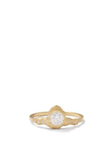 Elhanati - Iman Lux Diamond & 18kt Gold Ring - Womens - Yellow Gold