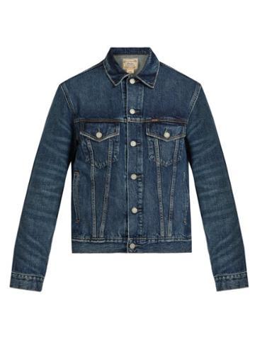 Matchesfashion.com Polo Ralph Lauren - Washed Denim Jacket - Mens - Blue