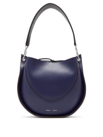 Matchesfashion.com Proenza Schouler - Hobo Small Leather Shoulder Bag - Womens - Dark Blue