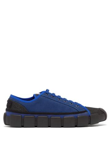 Matchesfashion.com 5 Moncler Craig Green - Canvas Low Top Sneakers - Mens - Blue