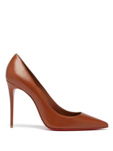 Matchesfashion.com Christian Louboutin - Kate 100 Leather Pumps - Womens - Mid Nude